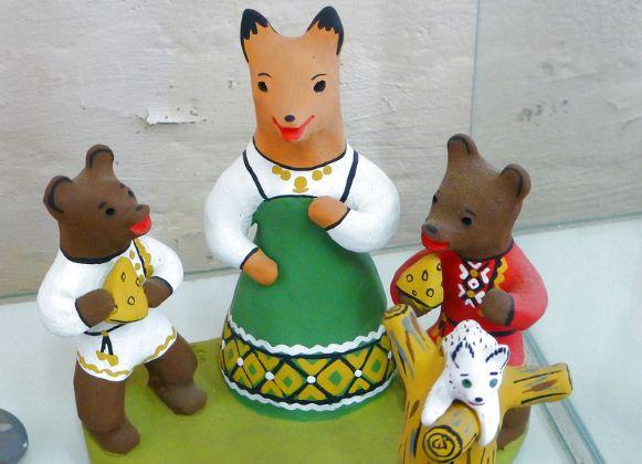 Глиняная игрушка из Каргополя