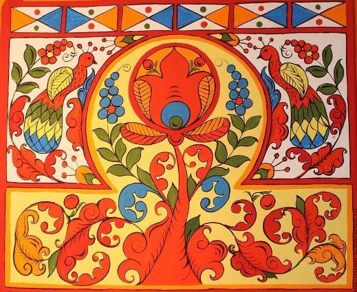 Цветовая гамма борецкой росписи