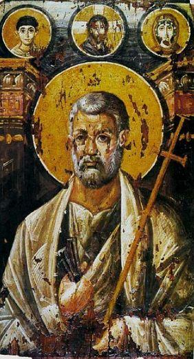 Апостол Петр ( VI век) - икона, написанная в технике энкаустики