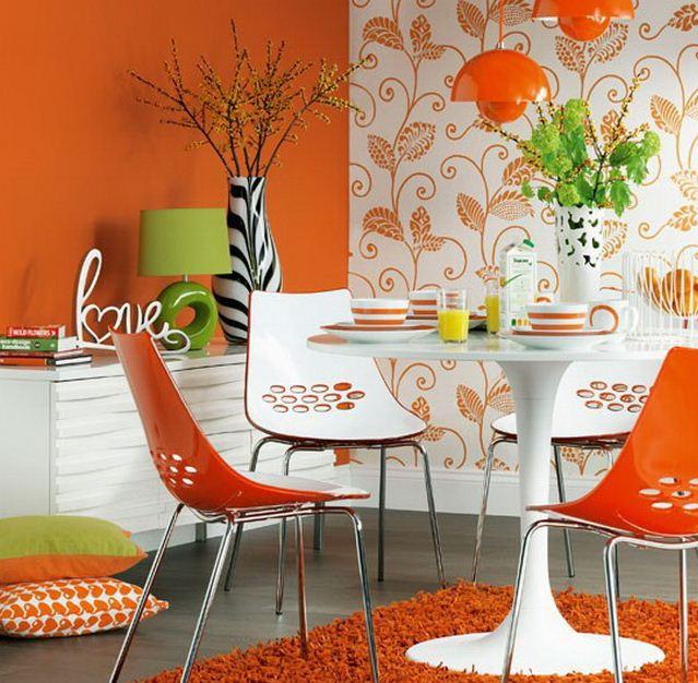 Акценты яркого оранжевого оттенка
