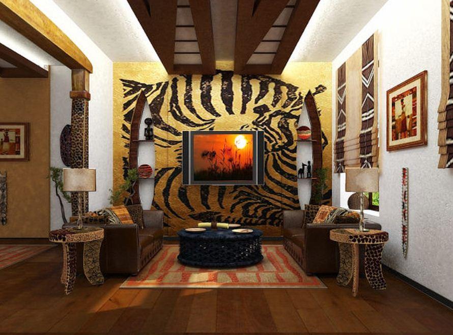 Необычный интерьер спальни в африканском стиле