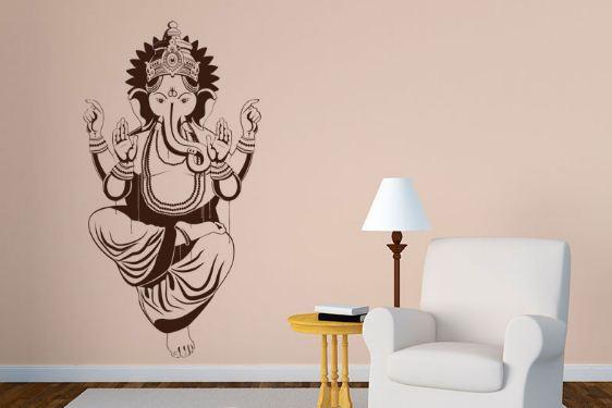 Наклейка на стену в индийском стиле