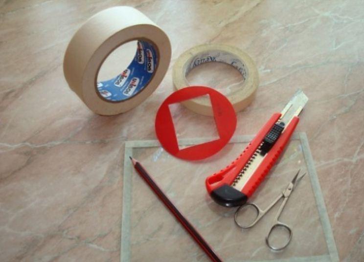 Инструменты для изготовления трафарета