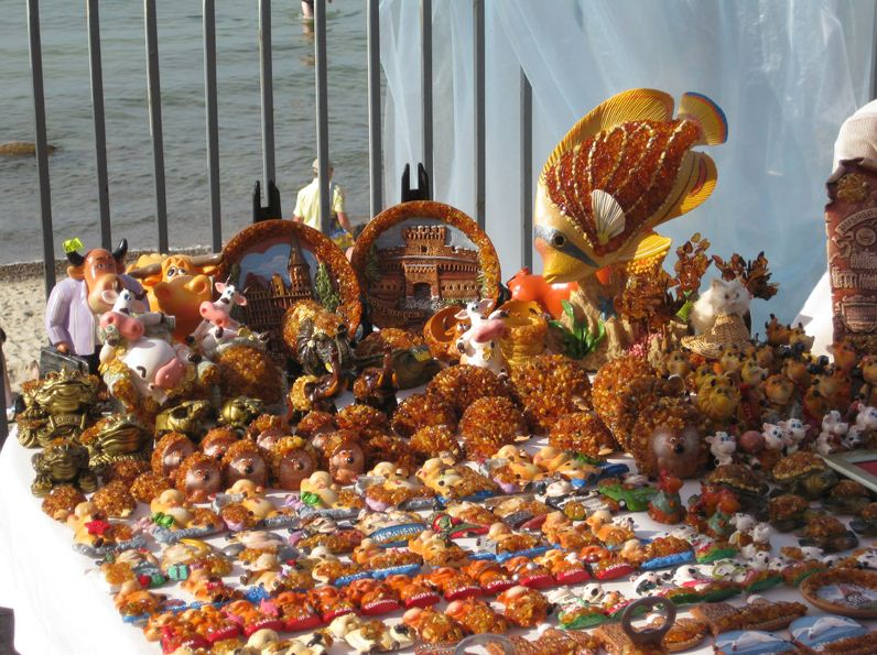 Сувениры из янтаря в Светловодске