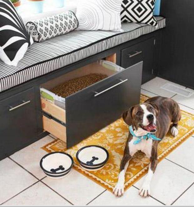 Ящик для хранения собачьего корма