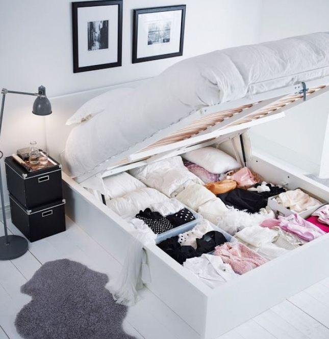 Ящики для хранения вещей под кроватью