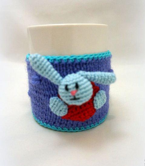 Вязаный чехол для детской чашечки