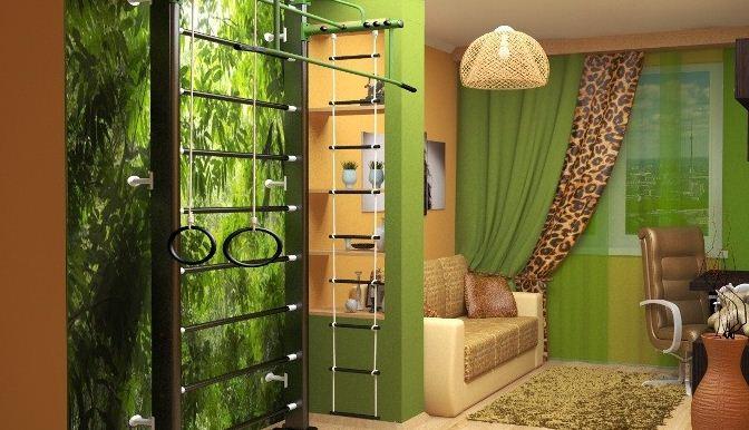Экзотический африканский стиль в интерьере городской квартиры