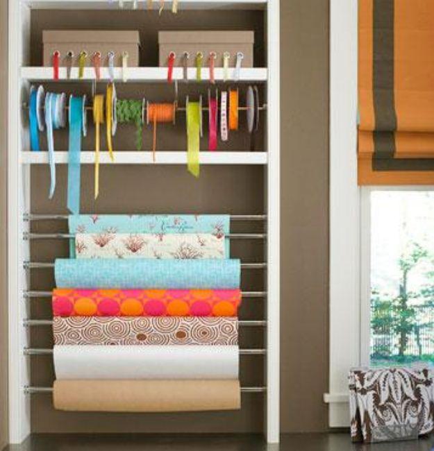 Уголок для хранения тканей и швейных принадлежностей