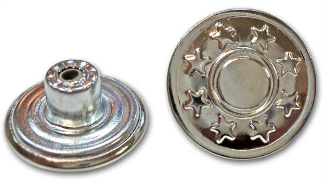 Джинсовая металлическая пуговица на ножке