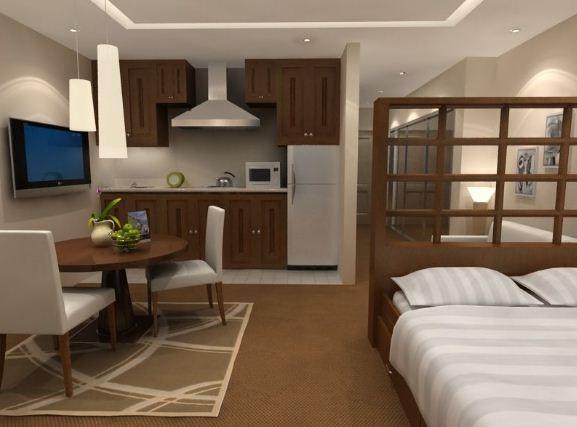 Интерьер однокомнатной квартиры - малосемейки