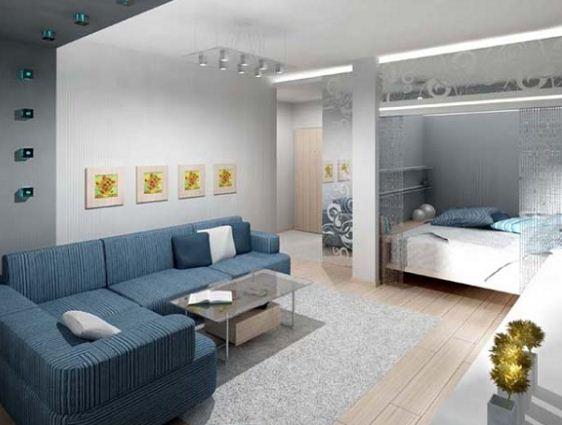 Ниша в однокомнатной квартире