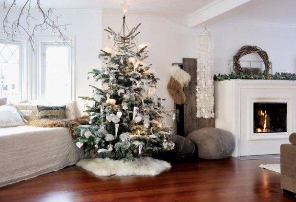Белый цвет - символ Рождества