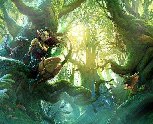 Лесные зеленые эльфы