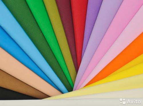 Цветовая палитра листов фоамирана