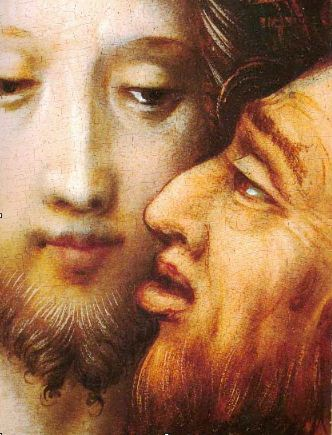 Предателя Иуду традиционно изображали с желтовато - рыжей бородой