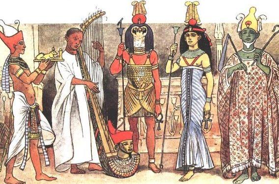 Образцы одежды древних египтян