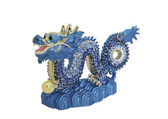Фигурка голубого дракона