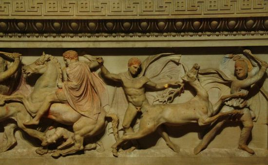 Рельефы на саркофаге Александра Македонского