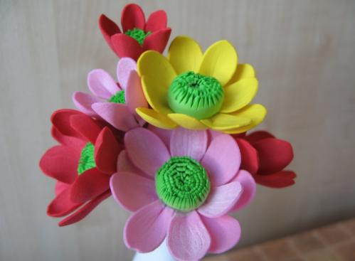 Цветы из толстого фоамирана толщиной 2 мм