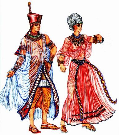 Одежда фараона и царицы Древнего Египта
