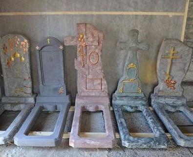 Надгробия из бетона