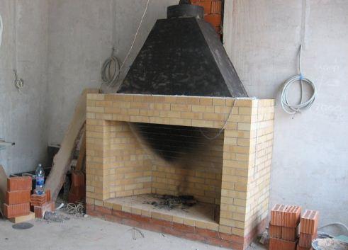 Дымосборник в камине