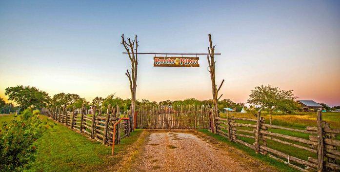 Огороженная территория ранчо