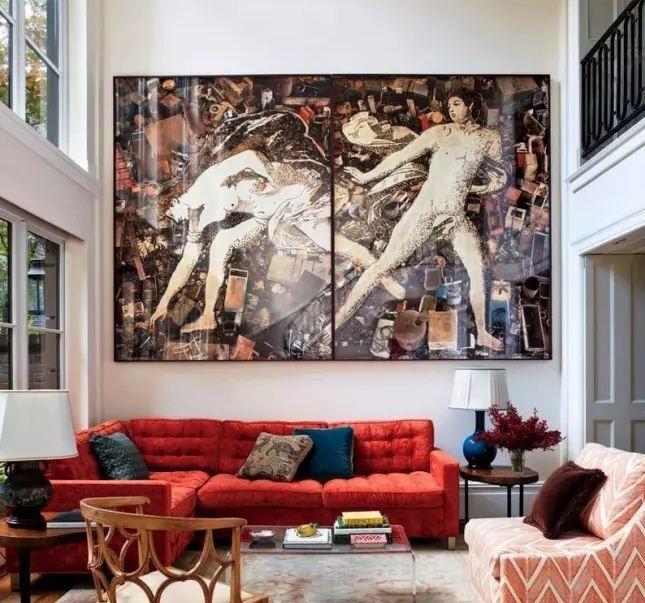 Масштабный постер - панно отлично впишется в интерьер большой квартиры