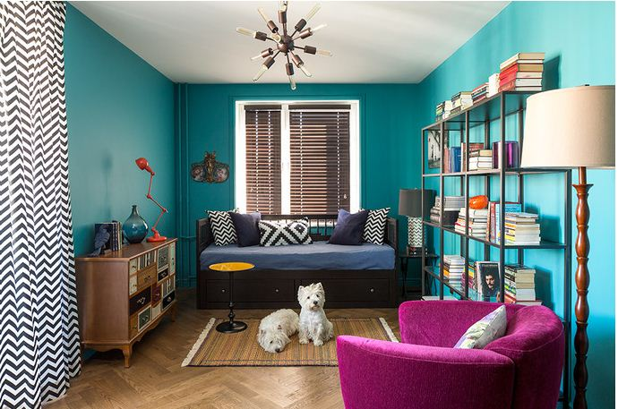 Обивка мягкой мебели контрастных цветов