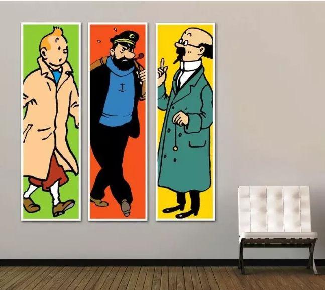 Интересный триптих из красочных постеров, связанных одной темой.