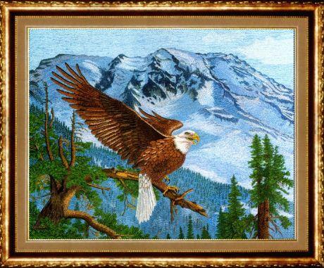 "Картина "" Орел"" ( вышивка гладью)"