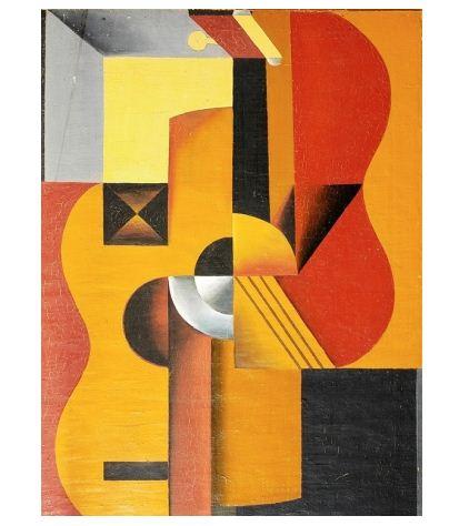 "Василий Ермилов "" Гитара"" ( 1919 год), холст, масло. Собрание Константина Григоришина, Москва."