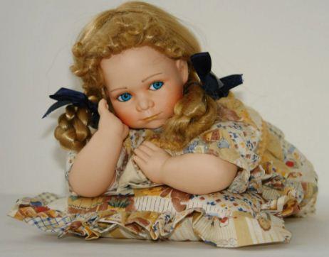 Милая Мечтательница - редкая фарфоровая кукла авторской работы