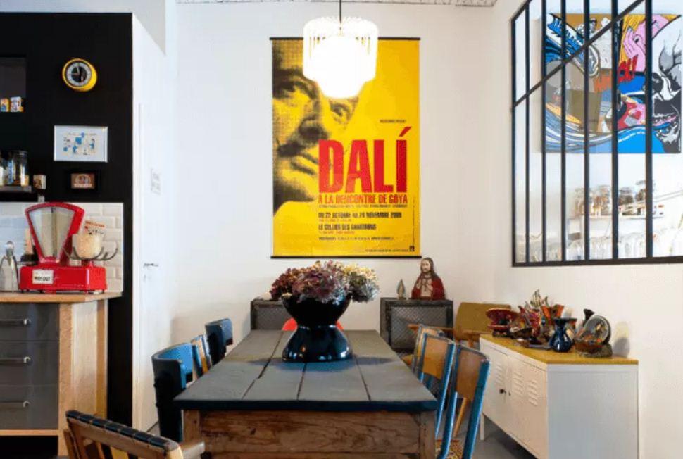 Уникальный винтажный плакат с изображением Сальвадора Дали
