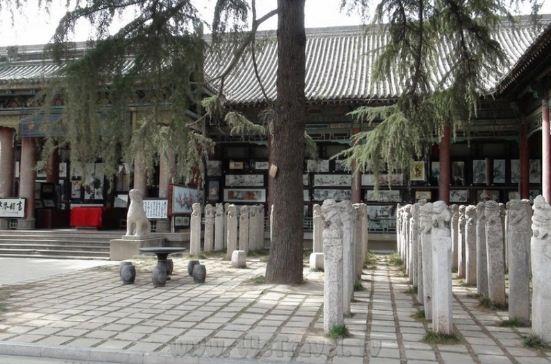 Лес каменных стел в музее Beilin Bowuguan ( Сиань, Китай)