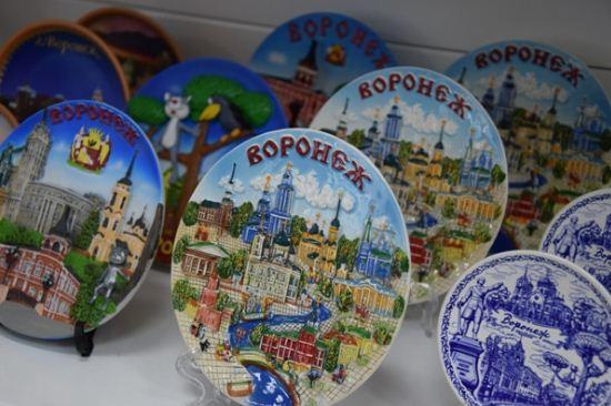 Сувенирные тарелки с видами города Воронеж