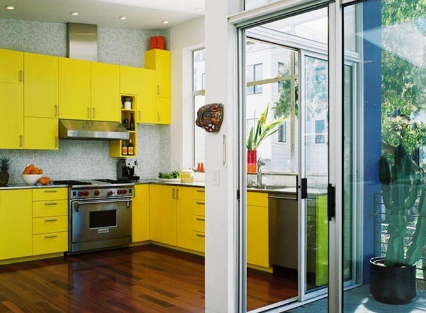 Удачное сочетание лимонного с другими цветами
