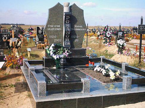 Памятник - двойное надгробие