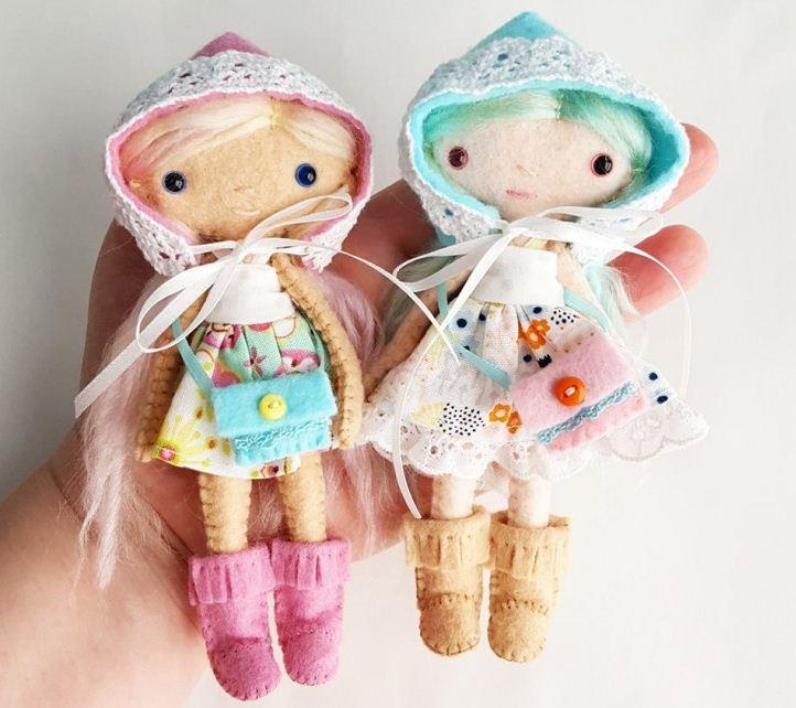 Миниатюрные куклы - самоделки