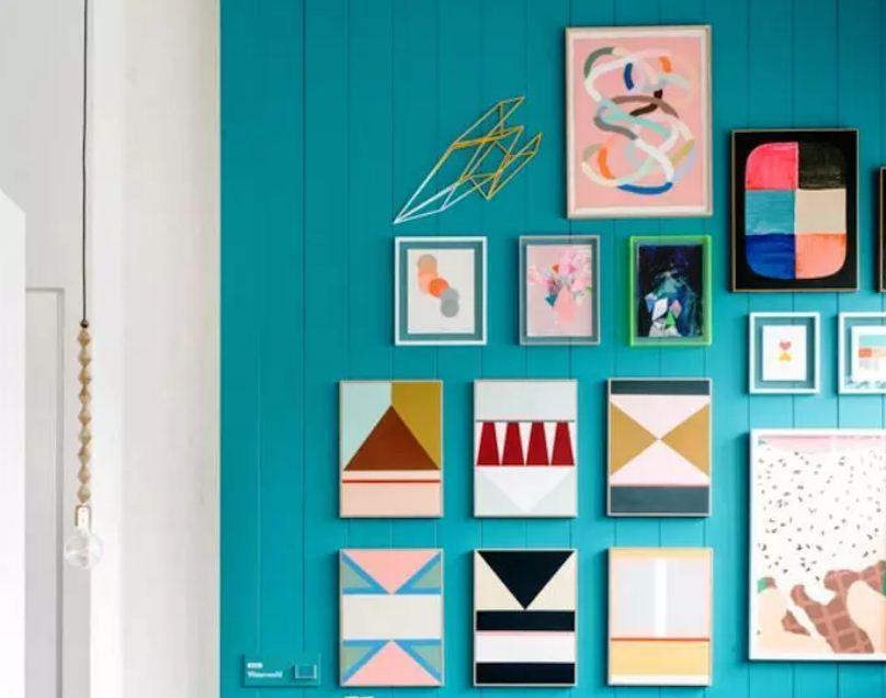 Самодельные постеры с простыми геометрическими мотивами