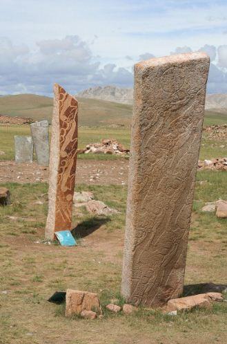 Оленный камень в Монголии
