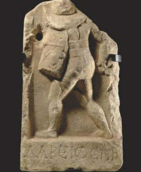 Надгробная стела гладиатора Дорейоса