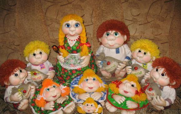 Куклы из капроновых колготок