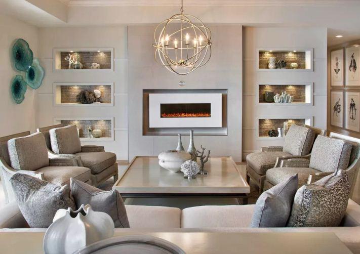 Бирюзовые тарелки станут оригинальным украшением интерьера в стиле шеби - шик