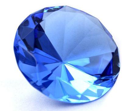 Драгоценный камень - синий сапфир