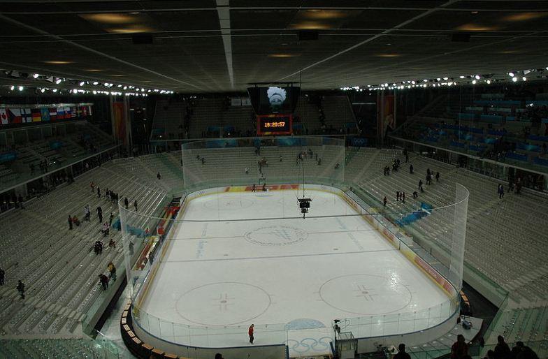 """Многофункциональная концертно -спортивная арена """" Пала Альпитур"""" в Турине ( 2005 год)"""