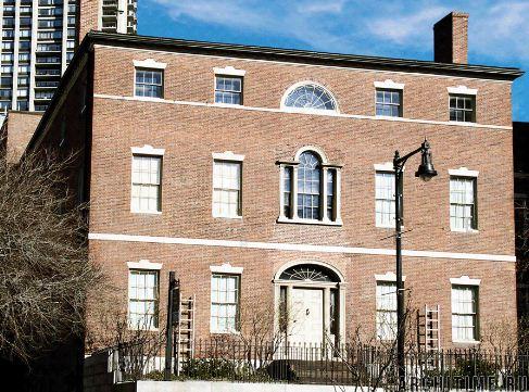 Первый многоквартирный дом Харрисона Грея Отиса, построенный в Бостоне ( штат Массачусетс, США) по проекту Чарльза Булфинча в 1796 году.