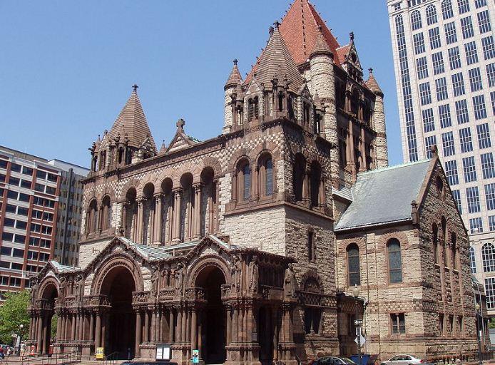 Церковь Троицы в Бостоне ( 1872 год).