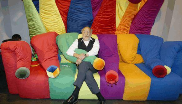 Яркие цвета мебели Пеше